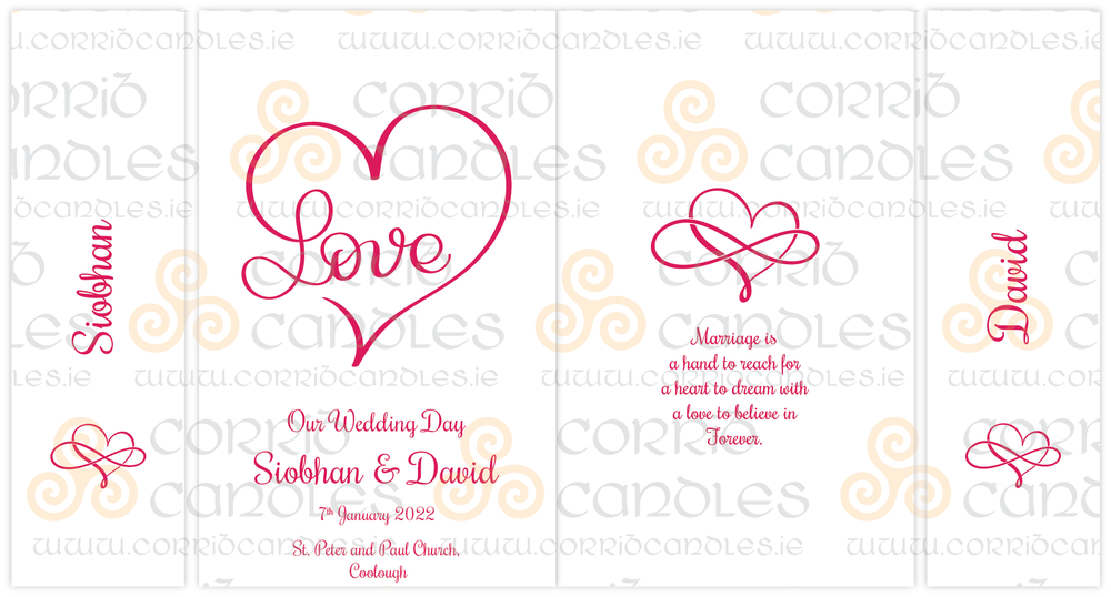 Love Inifinty Wedding Unity Proof