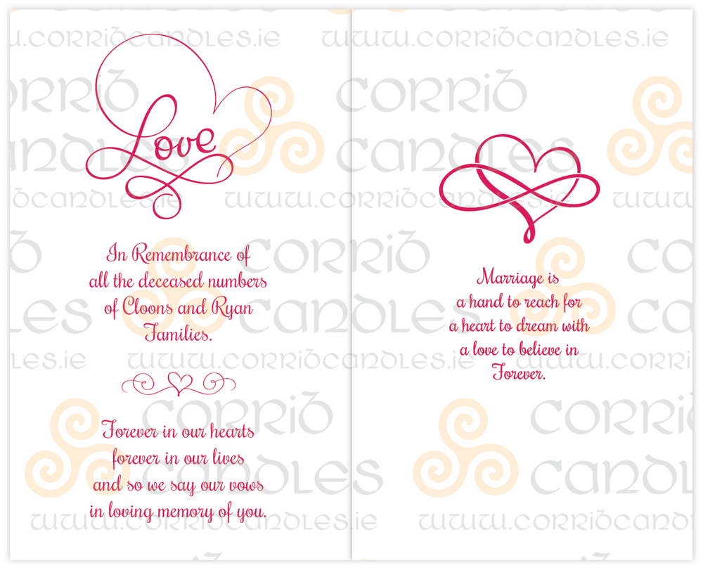 Love Infinity Memory Candle Proof