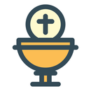 Communion candles icon